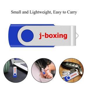 J-boxing USB Flash 64 ГБ 32 ГБ 16 ГБ 8 ГБ металлический флэш-накопитель поворотный флэш-накопитель для ПК ноутбука USB 2,0 устройство синий