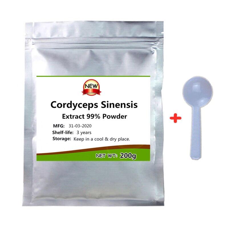 Новый порошок 99% экстракта Кордицепса китайского, здоровая Иммунная поддержка, Усилитель энергии, противоопухолевой и противовирусный, инг...