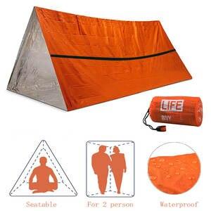 Blanket Survival-Kit Rescue Sos-Sleeping-Bag Emergency-Tent Waterproof Whistle 2person