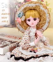 Demi doll fairy 60 cm dress Princess Doll suit big gift box joint doll