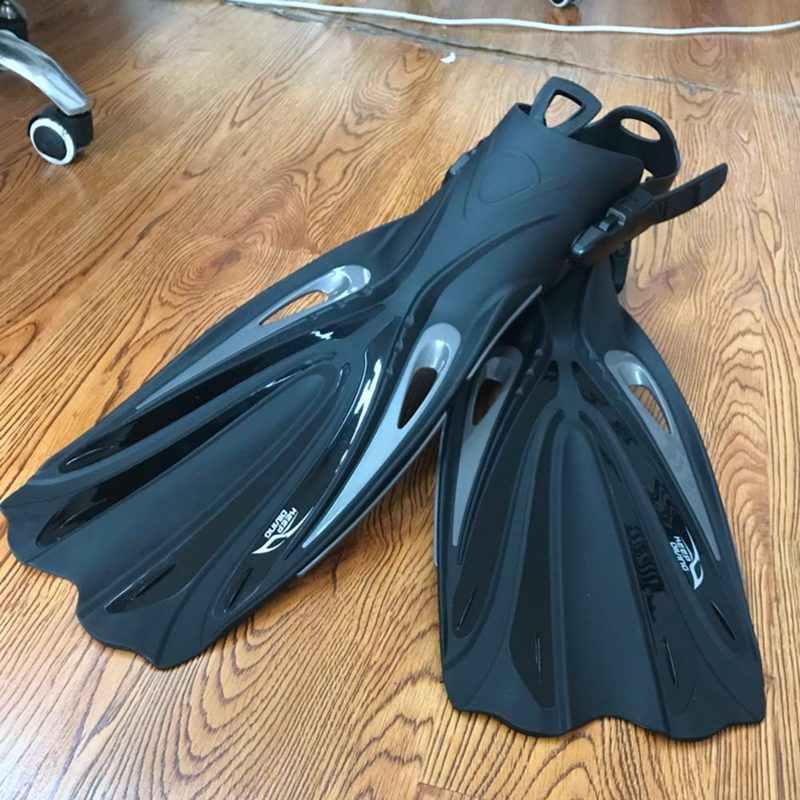 Tutmak dalış açık topuk tüplü dalış uzun yüzgeçleri ayarlanabilir dalış yüzgeçleri palet için özel dalış botları ayakkabı dişli (XL)