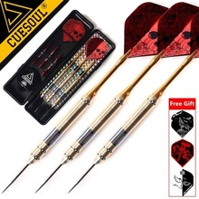 CUESOUL 3PCS 23g 25g 27g Professional Steel Tip Darts Needle With Red Dart Flights