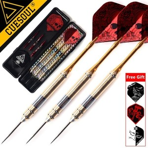 Image 1 - CUESOUL 3PCS 23g 25g 27g Professional Steel Tip Darts Needle With Red Dart Flights