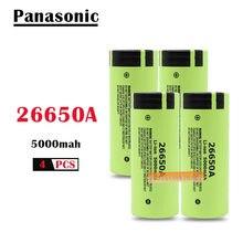 4 pièces/lot 100% d'origine nouvelle batterie pour Panasonic 26650A 3.7V 5000mAh haute capacité 26650 Li-ion Batteries rechargeables