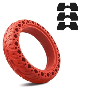 8.5 Inch Solid Rubber Wheel Tires with 3 Pcs Vibration Dampers for Xiaomi M365/M365 PRO Scooter