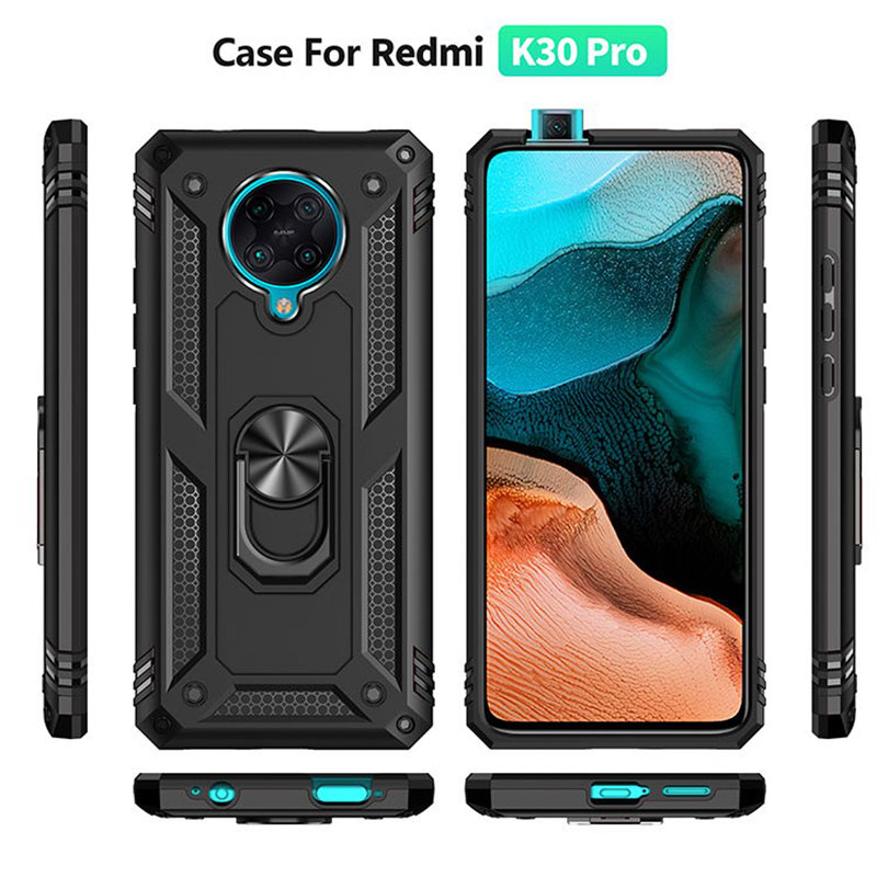 Luxury Cover For Xiaomi Redmi K30 Pro Case Shockproof Silicone Armor Ring For Xiaomi Redmi 8 8A 7A K20 K1O K20 Pro K30 5G Case image