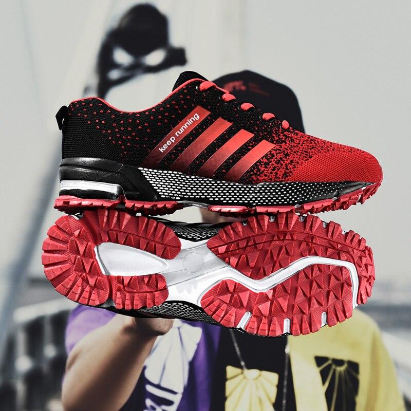 2019 Men Women Sneakers Big Size Outdoor Running Sport Shoes Marathon Walking Jogging Footwear Unisex Cheap Sneakers For Men