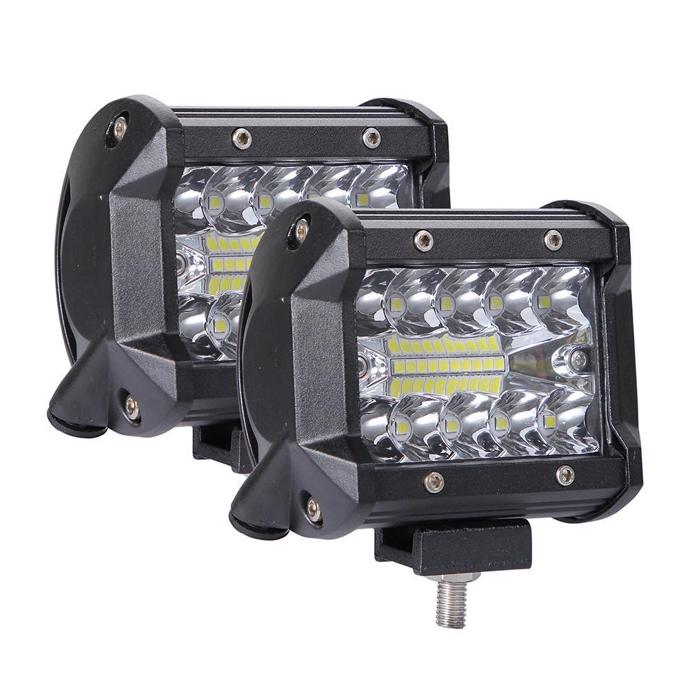 Lâmpada led de 4x4 para carro, lâmpada para caminhão, barco, suv, nevoeiro, 200w farol 12v 24v para barra de led atv
