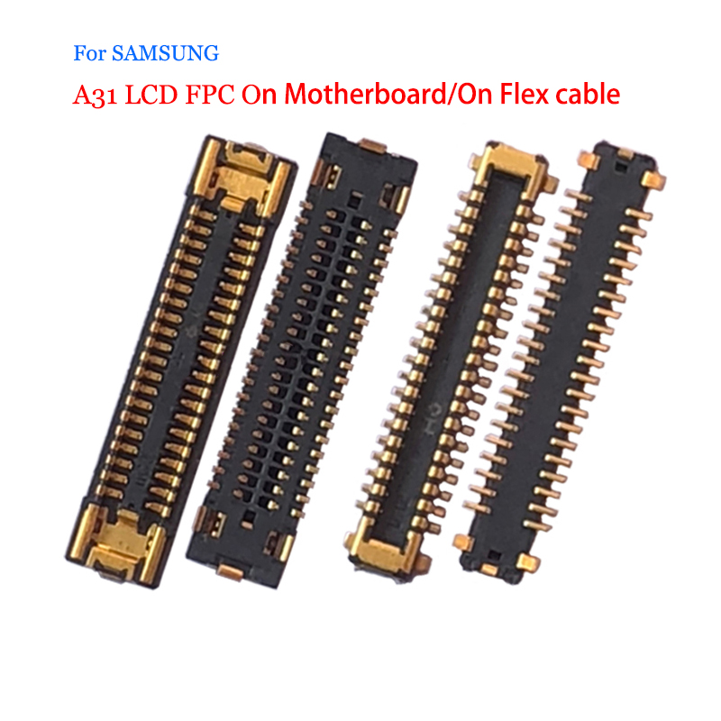 10 шт./лот для Samsung Galaxy A31, ЖК-дисплей, экран FPC, разъем для контакта на плате, гибкий кабель