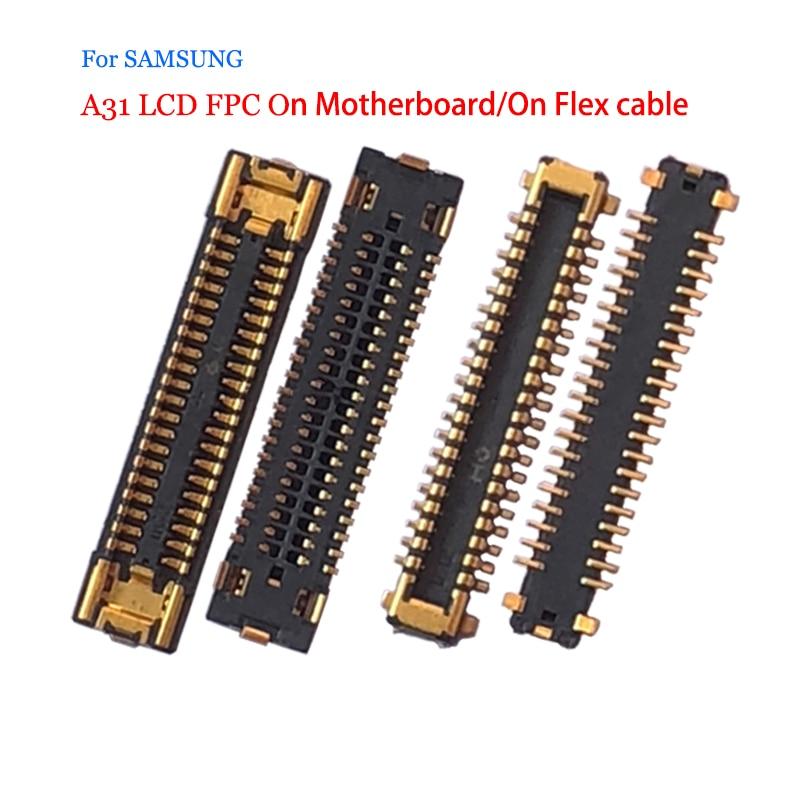 Оригинальный ЖК-экран для Samsung Galaxy A31, FPC Разъем для контакта на плате, гибкий кабель