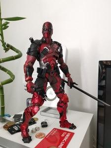 [Śmieszne] 26cm Wolverine X mężczyźni X-MEN grać sztuki Kai Deadpool Wade Winston Wilson grać Art KAI pcv figurka