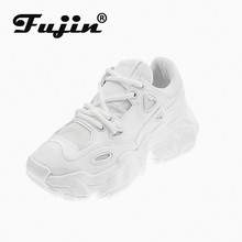 FUJIN Women Casual Sneakers Winter Warm Shoes Lace Up Female Comrfortable Dropshipping