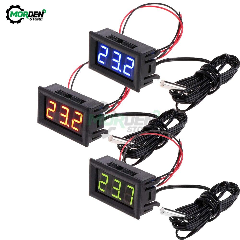 """Dc 5-12v 0.56 """"led digital termômetro carro incubadora ao ar livre indoor acquarium medidor de temperatura estação meteorológica monitor"""