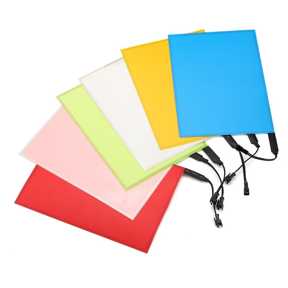 12V A5 21x14.8cm EL Panel Light Flexible Electroluminescent Light With Inverter Paper Neon Sheet