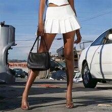 Neew Sexy Women High Waist White Pleated Skirts Hot Super Sweet Solid Mini Tennis Short Skirt Streetwear Casual Fashion Clothing