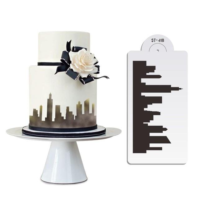 Декоративный трафарет для торта «сделай сам» кружевной шаблон