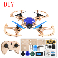Mini Drone Diy Wood With Camera Kids Toys For Children Rc Drone Mini Profissional Mini Quadrocopter Dron Selfie Drones Pocket f14893 g diy rc drone quadrocopter x4m380l frame kit qq super motor esc props