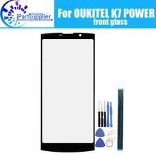 OUKITEL K7 güç ön cam ekran Lens 100% yeni ön dokunmatik ekran cam dış Lens OUKITEL K7 güç + araçları