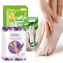 EFERO 6 pièces = 3 paire lavande/aloès pieds exfoliant pied masque peau Peeling peau morte pieds masque pour jambes Sosu chaussettes pour pédicure