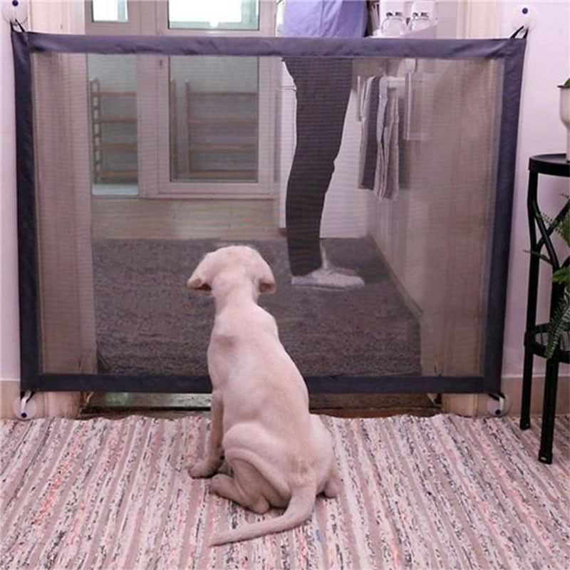 ホーム愛犬フェンスペット孤立ネットワーク階段ゲート折りたたみメッシュのベビーサークル犬猫ベビー安全フェンス犬のケージペットアクセサリー