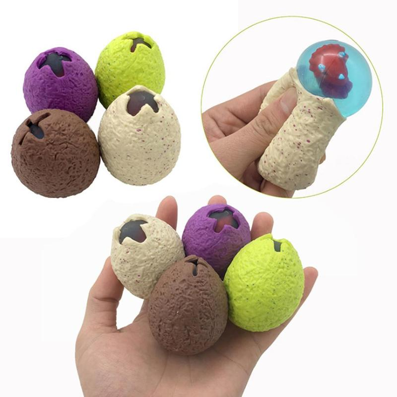 1pcs Creative Dinosaur Egg Ball Squeeze Toy Extrusion Vent Mesh Ball Decompression Children Antistress Squeeze Toy Random Style