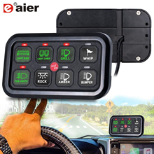 Auto 8 Gang Switch Panel Elektronische Relais Systeem Met Circuit Control Box Waterdichte Zekering Relais Doos Kabelboom Label Sticker