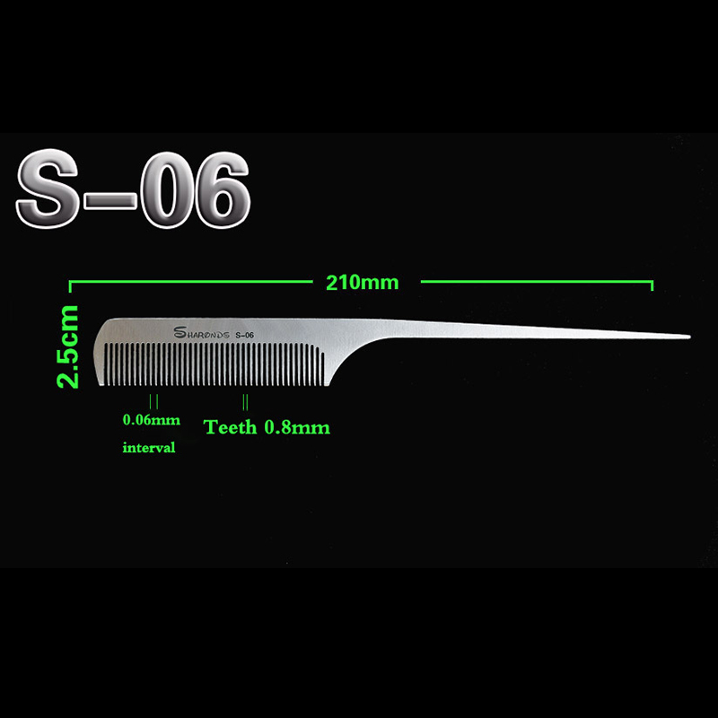 New Hair Comb For Hair Salon, 100% Hand Made Stainless Steel Hair Cutting Comb, Pro Hairdressing Steel Comb D-b1 3 Design