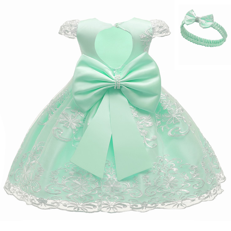 2020 Flower girl Princess Wedding Party dance embroidered lace dress girl baby birthday party first communion party dress