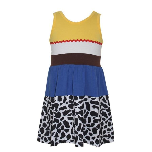 1-10Year dziewczyny Forky sukienka wygodne miękkie toy story Buzz Jesse obcych Cosplay księżniczka Party Bo Peep sukienka prezent urodzinowy Party sukienka