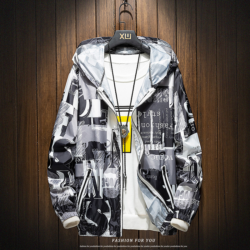 Summer sunscreen clothing for middle-aged teenagers fishing clothing large skin thin jacket jacket men's outdoor clothing
