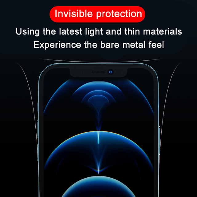 Transparent Hydrogel Film For Apple iPhone 12 Pro Max Phone Side Film iPhone 12 mini Ultra-thin Border Protective Film Not Glass 6