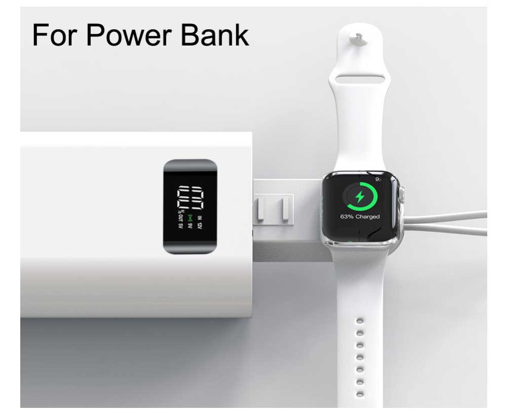 Wireless Charger for Apple Watch Portable Magnetic for Apple iWatch Series 5 4 3 2 1 iPhone XS XR 7 8 11 Plus USB cable Airpods