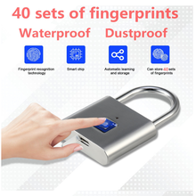 Intelligent Fingerprint Password Stainless Steel Padlock Automatic Password Luggage Case Multi-Purpose Padlock 40mm