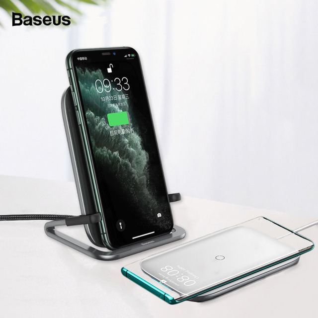 Baseus 15W Qi Wireless Charger Stand for iPhone 11 Pro X XS Samsung S10 S9 S8 Fast Wireless Charging Station with Holder 1