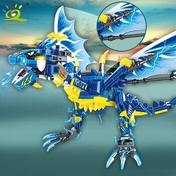 "Конструктор HUIQIBAO ""Синий дракон"", 328 шт. 4"