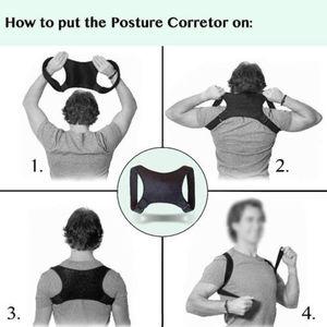 Image 3 - Nova postura corrector volta apoio cinto ombro bandagem corset volta ortopédico coluna postura corrector alívio da dor nas costas