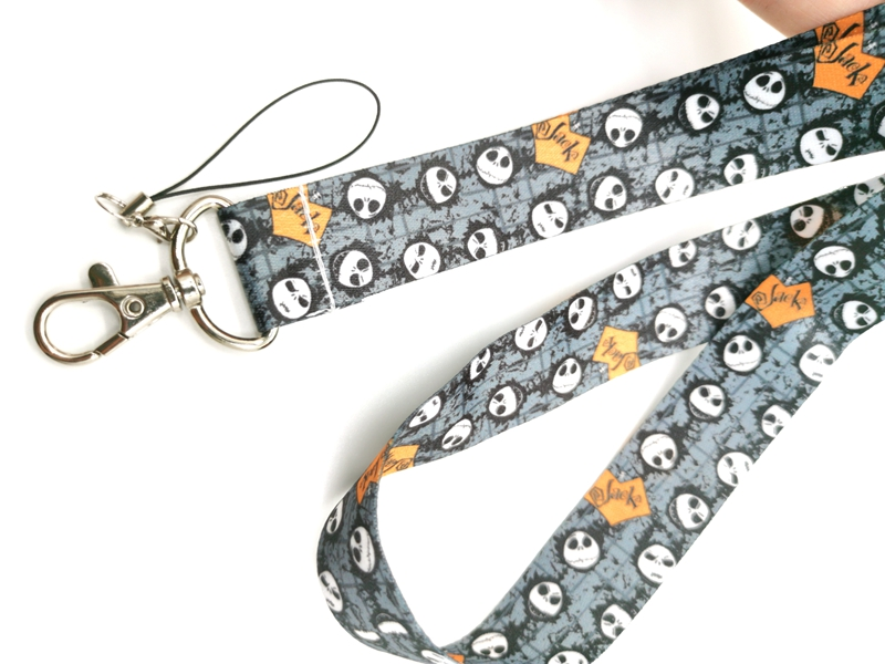 New cartoon Nightmare Before Christmas  Neck Strap Lanyards  Badge Holder Rope Pendant Key Chain Accessorie