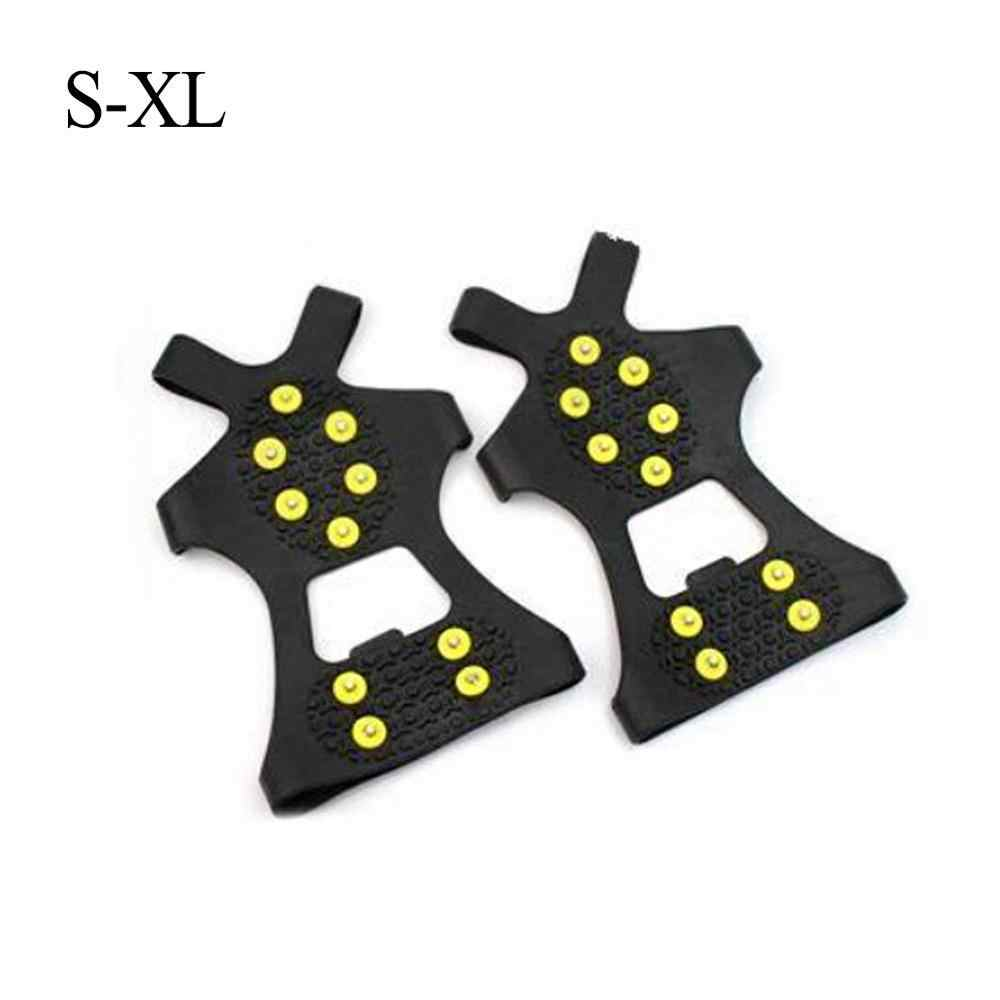 Hot Sale 10 Studs Shoe Spike Unisex Winter Climbing Anti-Slip Snow shoes Over Shoes Covers High Quality Crampon Drop Shipping