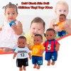 かわいい黒アフリカ人形30センチメートルリアルな黒ベビーbrinquedos人形かわいいはげ黒ビニールベビー子供のためのクリスマスギフト人形