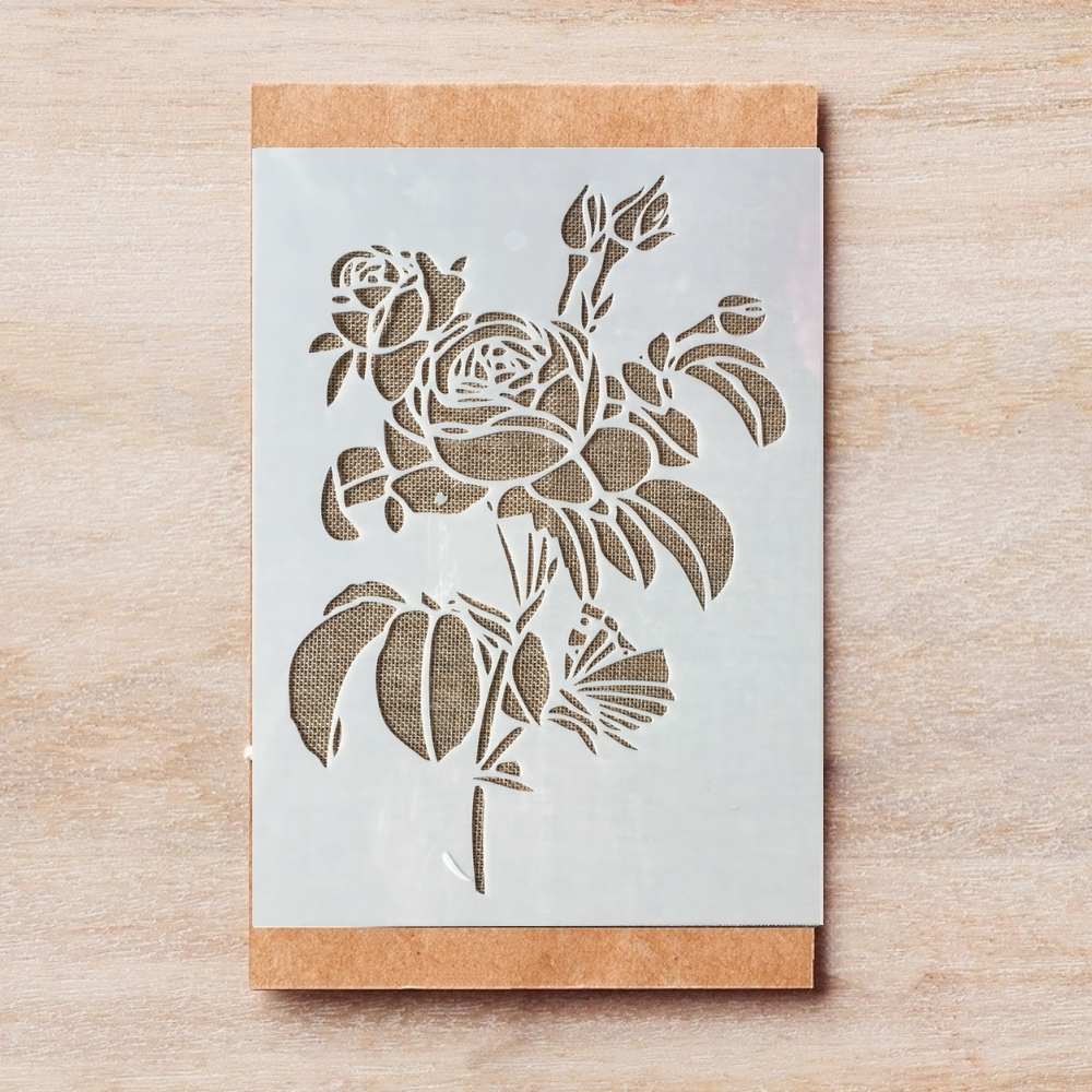 29*21cm A4 Rose Flower DIY Layering Stencils Wall Painting Scrapbook Coloring Embossing Album Decorative Template