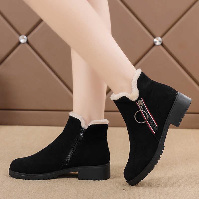 2019 yeni kadın moda kayma düşük topuk dikiş akın platformu yarım çizmeler kadın rahat rahat tarzı siyah/kahverengi ayakkabı