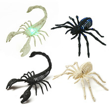 2019 New LED Luminous Spider Halloween Spider Site Layout Spider Web Antique Spider Antique Dice home decoration party supplies