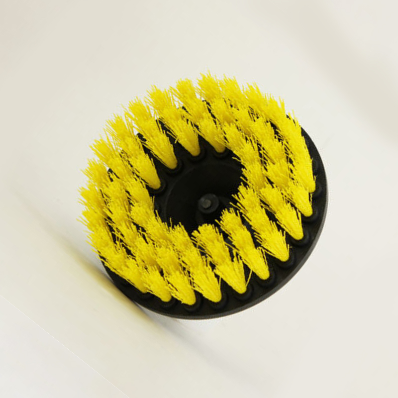 5-Inch Yellow Electric Drill Cleaning Brush Carpet Spot Removal Bristle Brushes For Tub And Tile Cleaning