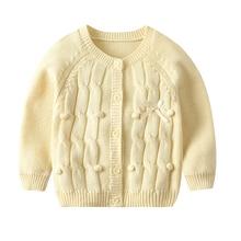 baby girls Boys winter Bow Warm Sweater Knit Crochet Coat Kids Cardigan Jacket Outerwear princess clothing