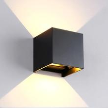 광장/라운드 야외 벽 조명 12W 알루미늄 방수 벽 램프 조정 가능한 Led 투광 조명 호텔 거실 조명 AC85 ~ 265V