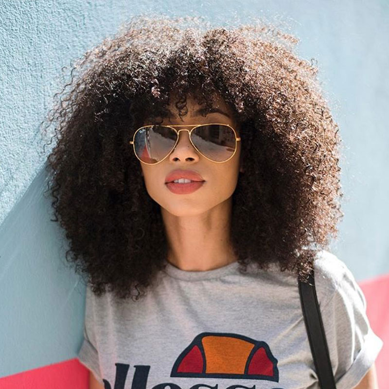 Mongolian Afro Kinky Curly Lace Front Human Hair Wigs With Bangs Short Human Hair 13x6 Lace Frontal Bob Cut Wig 4B 4C EverBeauty