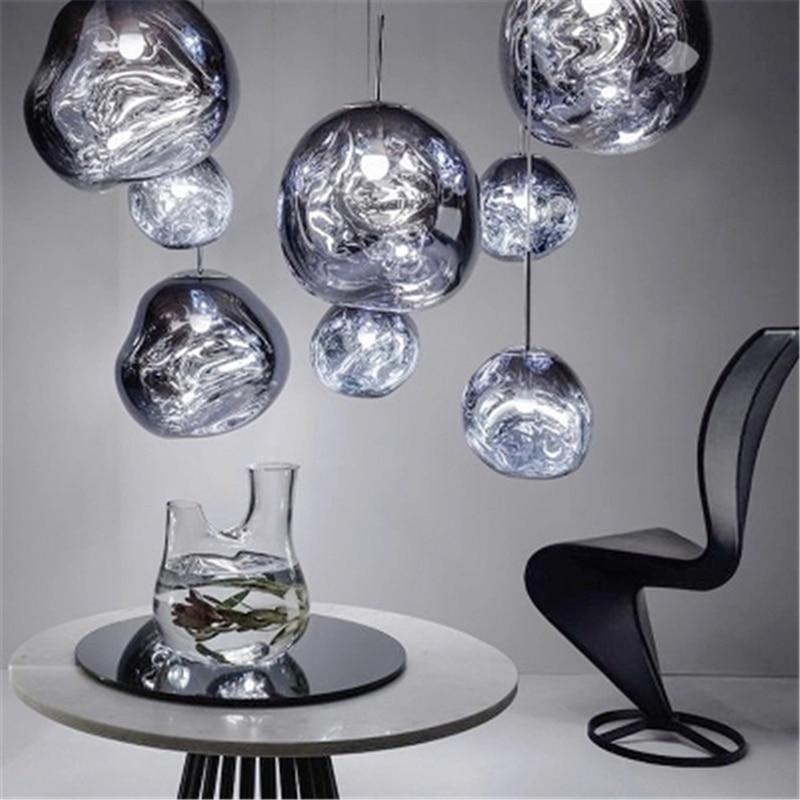 Nordic Glass LED Pendant Lights Cafe PVC Pendant Lamp Villa Duplex Apartment Kitchen Hanging Lamp Indoor Decor Light Fixtures