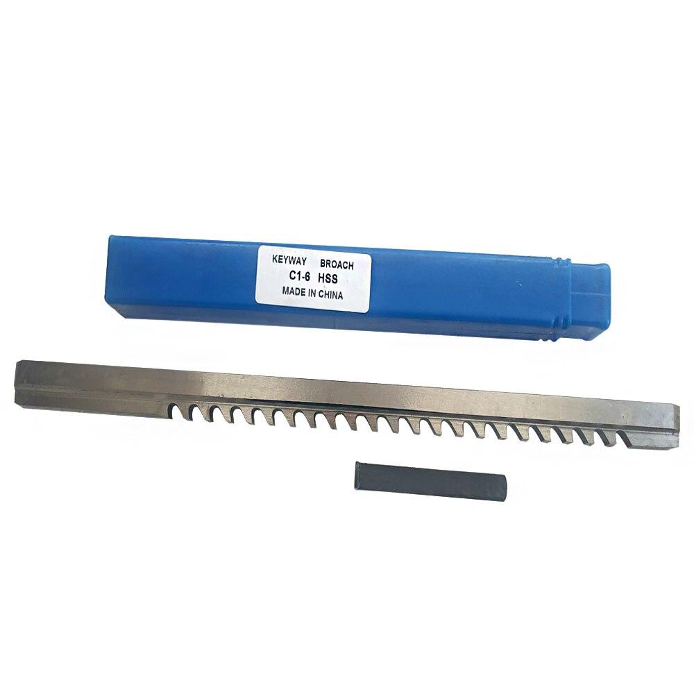 Keyway + Shim Ferramenta de Corte para Cnc Push-tipo Keyway Broach Tamanho Métrico Roteador Metalurgia Hss 6mm c1 Mod. 134713