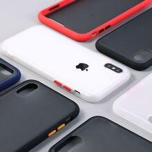 Противоударный защитный чехол для телефона для iphone XR XS Max 11 X XS 7 8 6 6S Plus Прозрачный матовый жесткий чехол для телефона защитный чехол