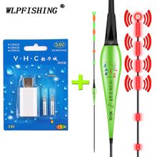 WLPFISHING 1 Set CR425 Rechargeable Battery + 1 Piece Fishing Float Gravity Sensor Explosion-flashing Alarm Fishing Floats